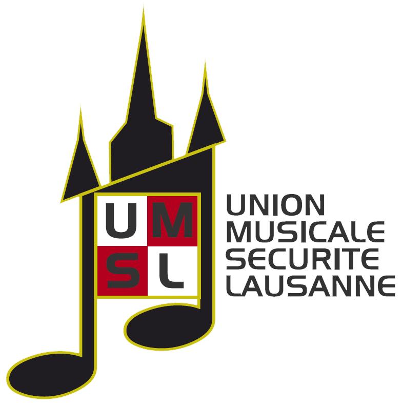 Logo de la fanfare l'Union Musicale de la Sécurité Lausanne.