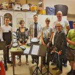 Les percussionnistes de l'Union Musicale de la Sécurité Lausanne.
