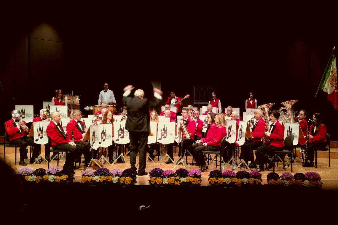 La fanfare l'Union Musicale de la Sécurité Lausanne lors de son concert de gala le 17 mars 2018.